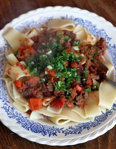Homemade Ragu with Gremolata