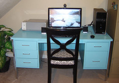 Blue Metal Desk