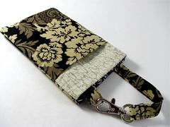 dark ipod handmade case smartphone gadget holster damask (Photo: xsbaggageandco on Flickr)