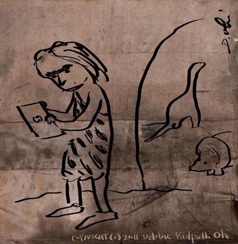 iPad Caveman Doodle