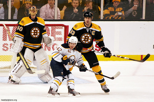 Zdeno Chara and Nathan Gerbe