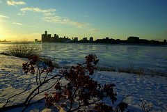 january 2011 (buckshot.jones) Tags: winter snow ice skyline detroit detroitriver belleisle marriotthotel johnportman gmbuilding cityskip ranaissancecenter