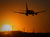 LAX Sunset [Explore] (Silver1SWA (Ryan Pastorino)) Tags: california sunset canon airplane rebel los airport angeles boeing lax 737 canon100400l xti