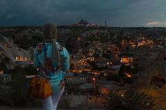 Arab   Turkey (Rohit Markande) Tags: arab cappadocia dusk girl hills landscape chimneyhouses night tukey goreme chi neyhouses