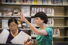 160909_Karen Burgan and student_004 (Pima County Public Library) Tags: elriolibrary pimacountylibrary instruction adulteducation ged continuingeducation adulttraining jobtraining library d5