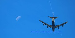Fly Me To The Moon........... (law_keven) Tags: airplane plane moon london england wwt londonwetlandcentre themoon