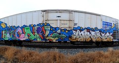 Hot Carl, Enrons (208 Bench) Tags: 2 hot art train graffiti carl end express graff freight chilled armn e2e enrons