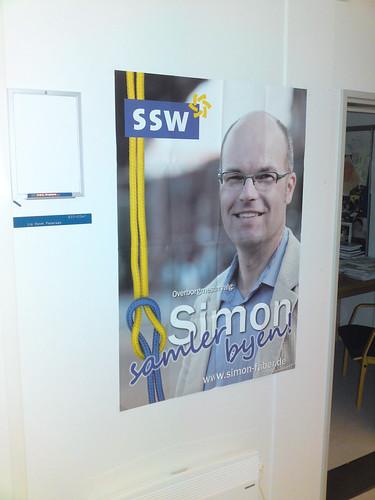 Simon Faber election poster