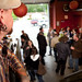 MIke McMahon overlooks party in microbrewery © Craig Pulsifer