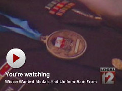 Military Medals Cremated