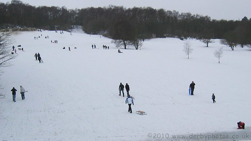 Sledging at Allestree Park, Derby