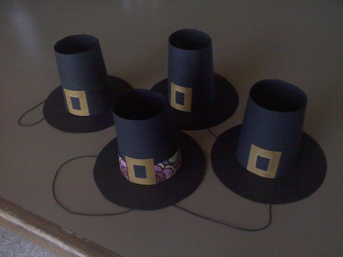 Mini Pilgrim Hats - Thanksgiving 2010