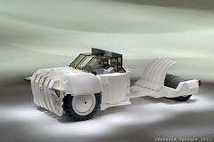 Jack White (Peteris Sprogis) Tags: auto white car race speed jack power ride lego stripes fast vehicle moc afol brickart brickdesign ps2010