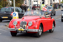 London to Brighton Veteran Car Run 2010 - 1958 Jaguar XK150 (YAC 460) (growler2ndrow) Tags: auto uk vintage surrey redhill 1958 motor jaguar 2010 vcc lbvcr worldcars londontobrightonveterancarrun