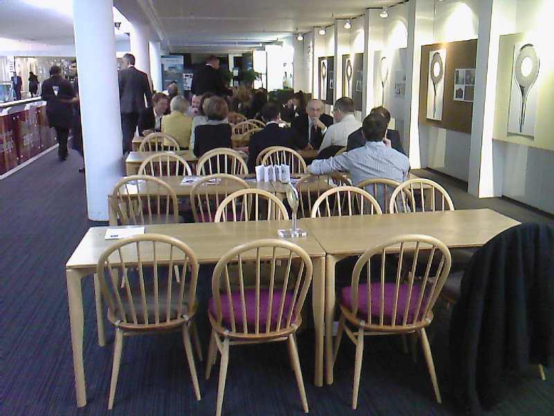ercol tables and chairs at the Sleep Event