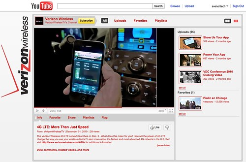 Verizon LTE Marketing Video with iPhone 4