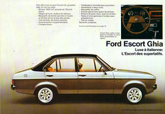 1980 Ford Escort Mk2 Ghia Brochure - Europe