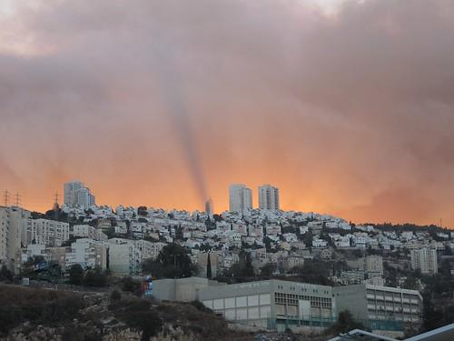 Haifa Carmel forest fire