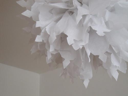 Pom pom paper snowflake