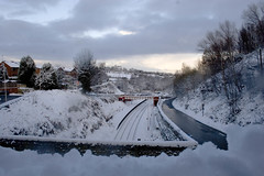Morley train station, snow
