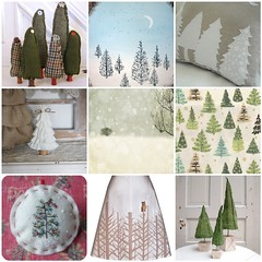 Christmas Tree White (All Things Bright) Tags: christmas wood white snow tree green art pine night forest painting photo wooden stuffed fdsflickrtoys handmade folk linen embroidery craft felt skirt pillow moonlit homemade ornament evergreen fabric photograph etsy plaid decor solitary magical rag