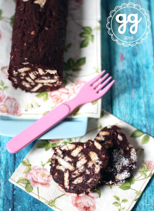 salame al cioccolato e barbabietola