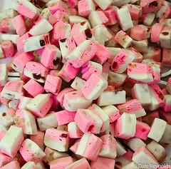 Sweets (Dale Reynolds) Tags: uk pink england food white cherry suffolk yummy nougat fair strip sweets burystedmunds