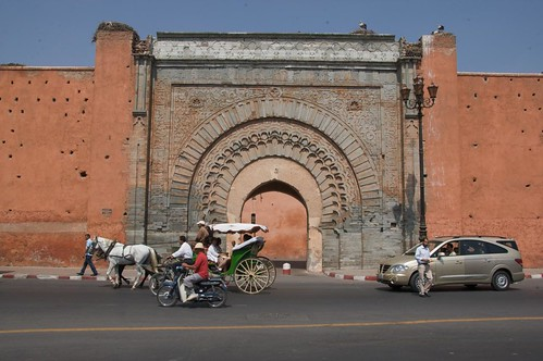 Old city Gate in Marrakech Morocco