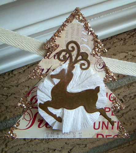 Deer on Tree Banner Piece