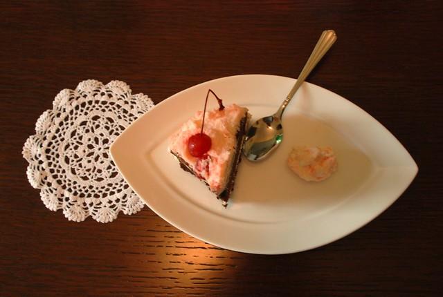 Cherry & kirsch cake