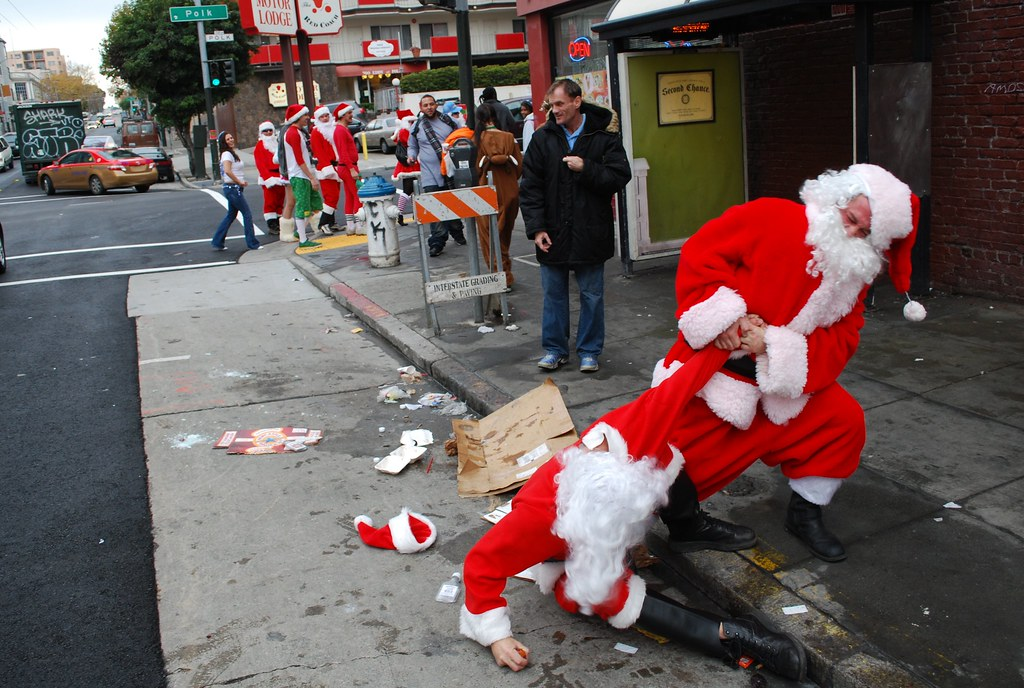 Image result for really drunk SantaCon