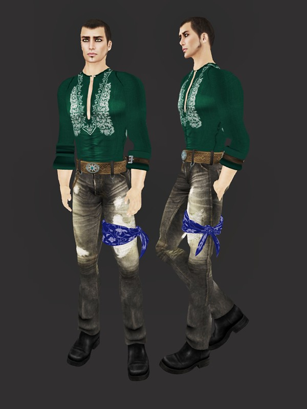 22769 couturier's loft - destroyed denim outfit