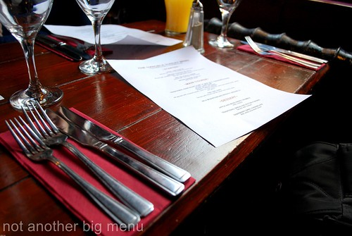 The Oxen (Manchester) Sunday lunch menu