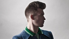 Psychobilly Hairstyle Men Salon basic haircut - the psychobilly (myhairdressers.com) tags: haircut