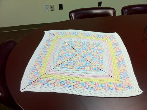 granny pastel baby blanket