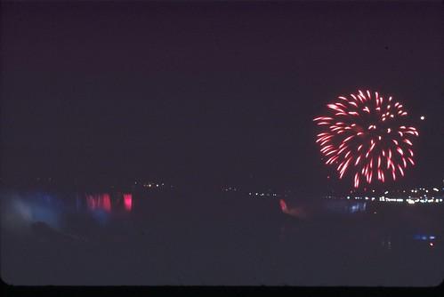Niagara Falls Fireworks in Kodachrome 2010