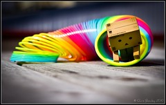 Danbo plays with the Slinky! (Chris J Bowley) Tags: camera canon toy toys little mini tiny figure 365 danbo tinycamera minicamera project365 toyfigure 550d revoltech photography365 minicanon danboard minidanboard minidanbo danbo365 canon550d danboproject 365daysofdanbo danbocamera 16thcamera