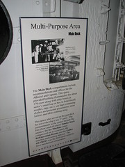 Multi-purpose area on the USS Olympia (FranMoff) Tags: sign boat ship navy area olympia cruiser uss c6 multipurpose ca15 protectedcruiser cl15 ix40