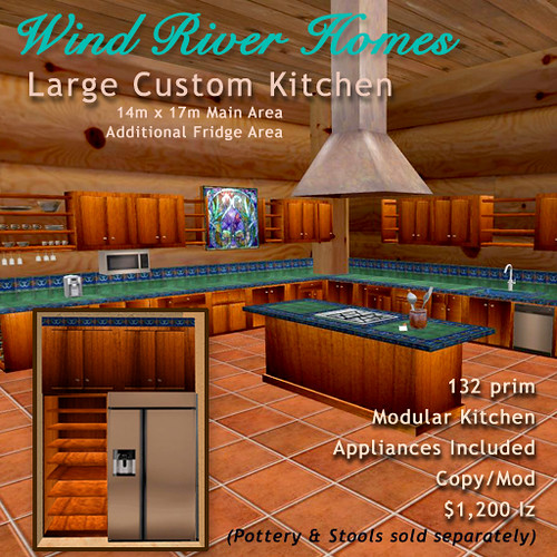 Large Custom Kitchen from Wind River Homes by Teal Freenote