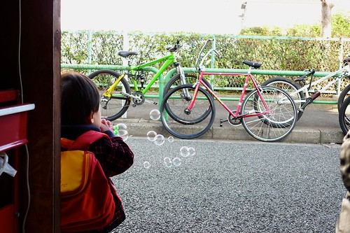 Soap bubbles and bikes