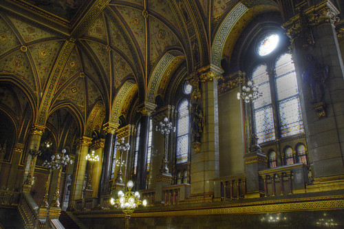 Parliament hall. Budapest. Hall del parlamento