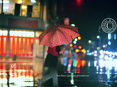 A heavy downpour. Over 2,000 visits to this photo. (Glenn Waters in Japan.) Tags: street winter japan night japanese nikon bokeh aomori japon     d700 nikond700  glennwaters nikkor85mmf14g nikkorafs85mmf14g