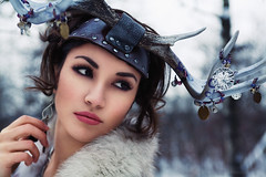 (Arianna Biasini) Tags: winter portrait woman cold girl fashion persian antlers iranian temnafialka mitranikoo