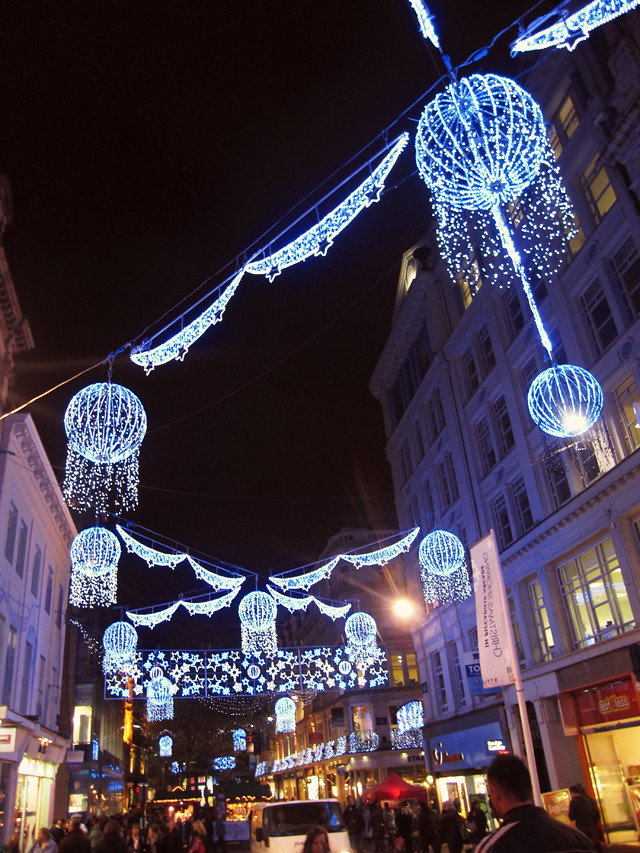 Christmas lights in Birmingham