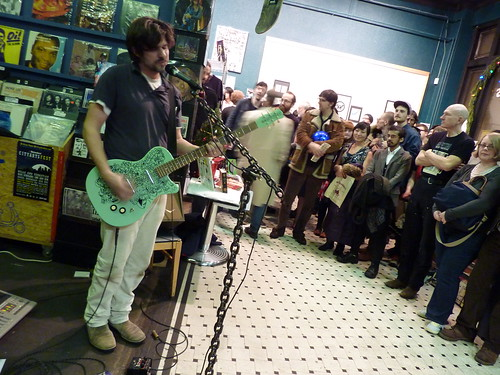 Zak Sally performs, Fantagraphics Bookstore & Gallery, Dec. 11, 2010