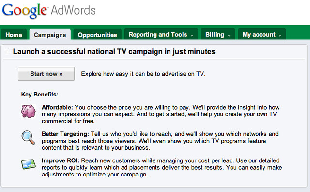 AdWords TV Ads