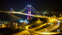 Night :: Tsing Ma Bridge, Hong Kong [] (hk_bellchan) Tags: night hongkong lights exposure double  tsingmabridge