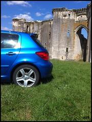 Peugeot 307 XSi (kity54) Tags: auto blue cars car train automobile shoot lion panasonic bleu locomotive concours peugeot challenger dmc bleue xsi 307 véhicule aileron récif lionne becquet récife worldcars tz5