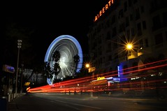 Near place Massena (aryapix) Tags: sea france wheel night french lights nice riviera tail promenade massena anglais