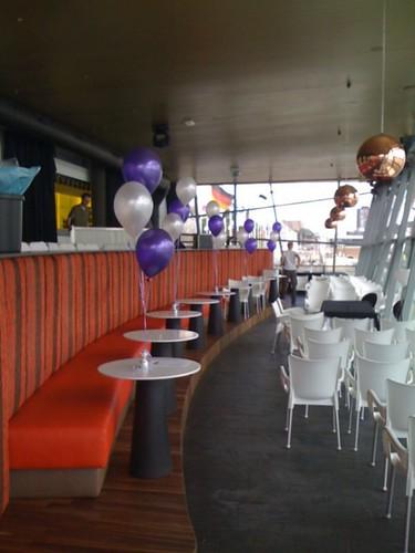 Tafeldecoratie 3ballonnen Blitz Rotterdam